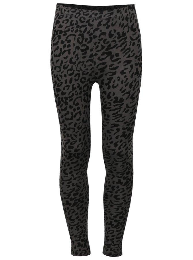 Černo-šedé holčičí legíny s leopardím vzorem 5.10.15.