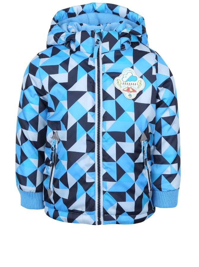 Modrá chlapčenská vzorovaná bunda s kapucňou 5.10.15.