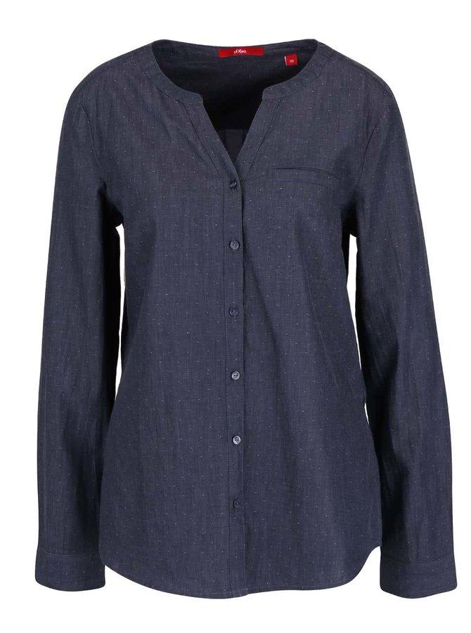 Tmavě modrá dámská košile s.Oliver