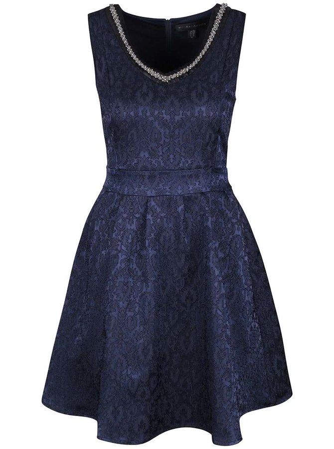 Rochie albastră Mela London din dantelă