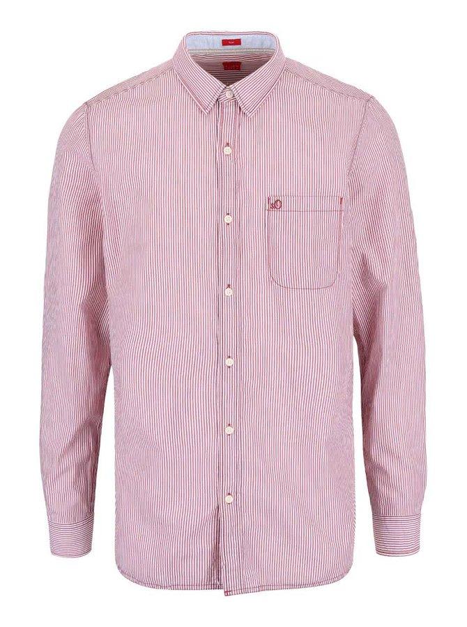 Bielo-vínová pánska košeľa s.Oliver