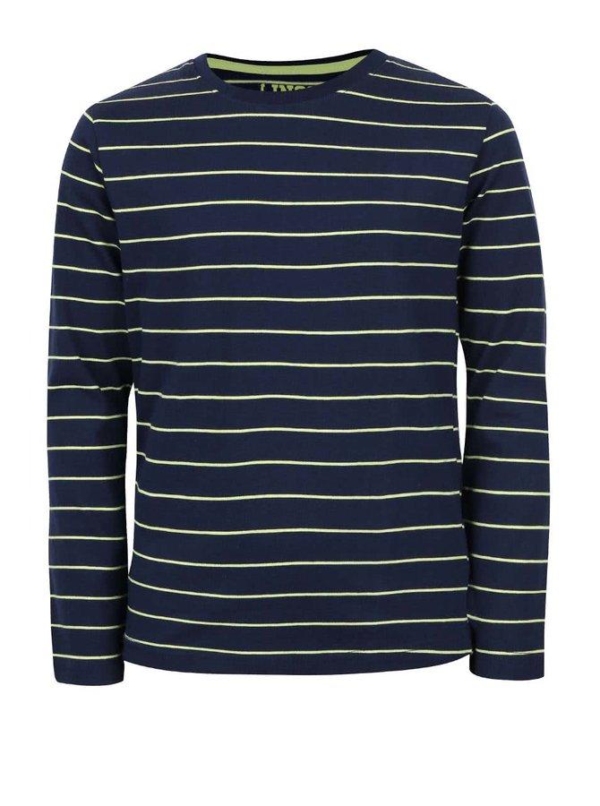 Tmavomodré chlapčenské pruhované tričko s dlhým rukávom 5.10.15.