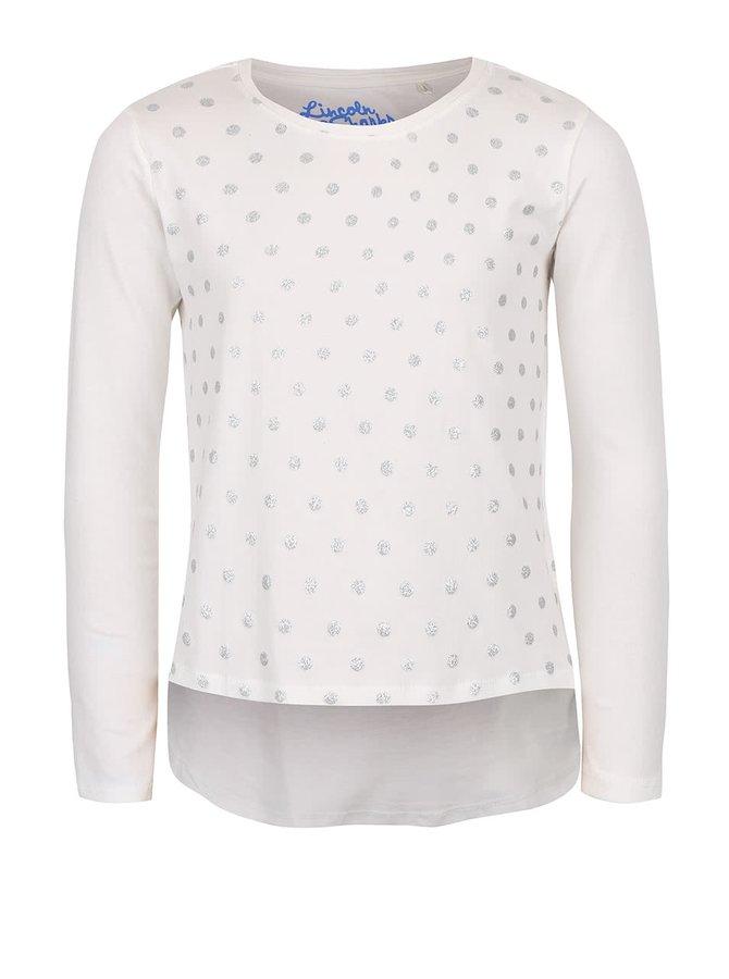 Krémové holčičí puntíkované tričko s dlouhým rukávem 5.10.15.