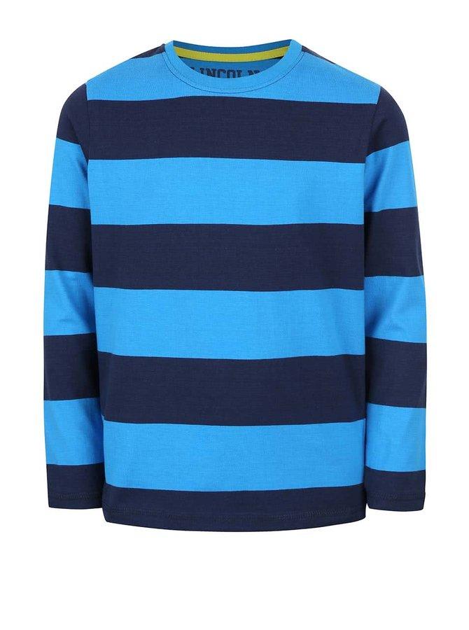 Modré pruhované chlapčenské tričko s dlhým rukávom 5.10.15.
