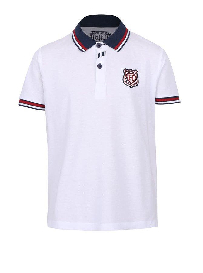 Tricou polo alb 5.10.15. pentru băieți