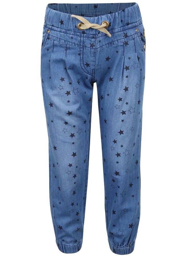 Modré dievčenské denimové nohavice s hviezdičkami 5.10.15.