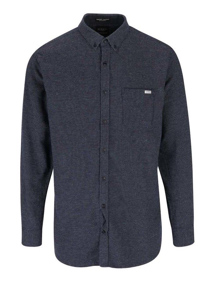 Modrá košile s drobným vzorem Lindbergh