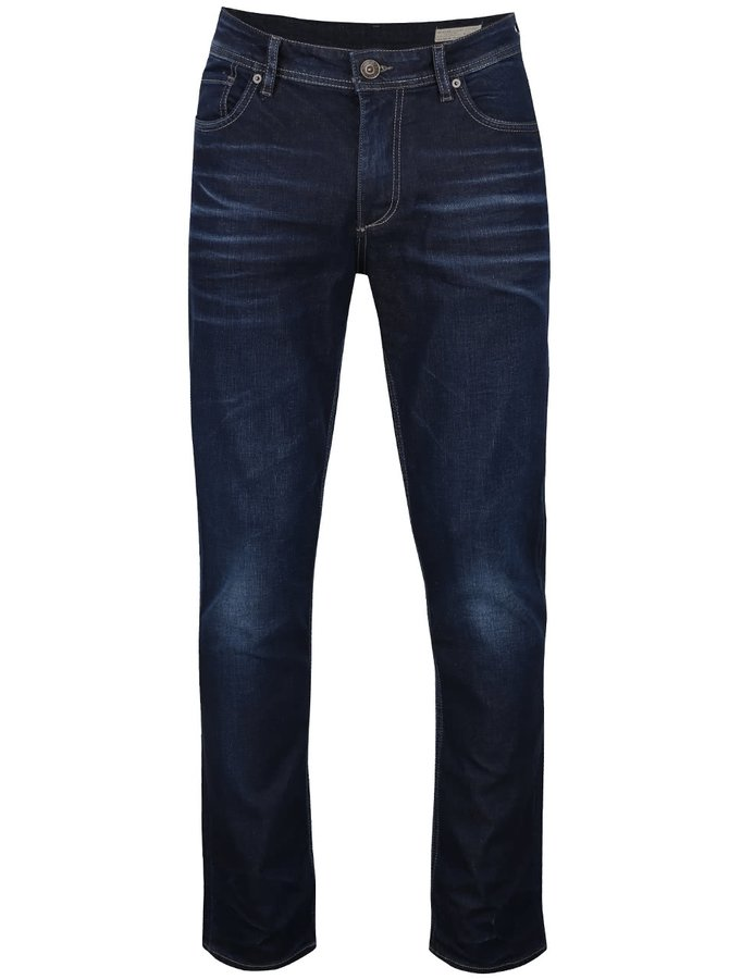 Blugi bleumarin Selected Homme Three Dean cu aspect prespălat