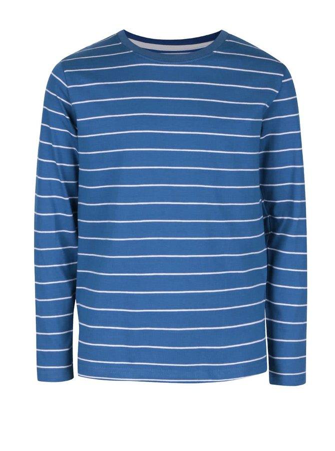 Modré chlapčenské pruhované tričko s dlhým rukávom 5.10.15.