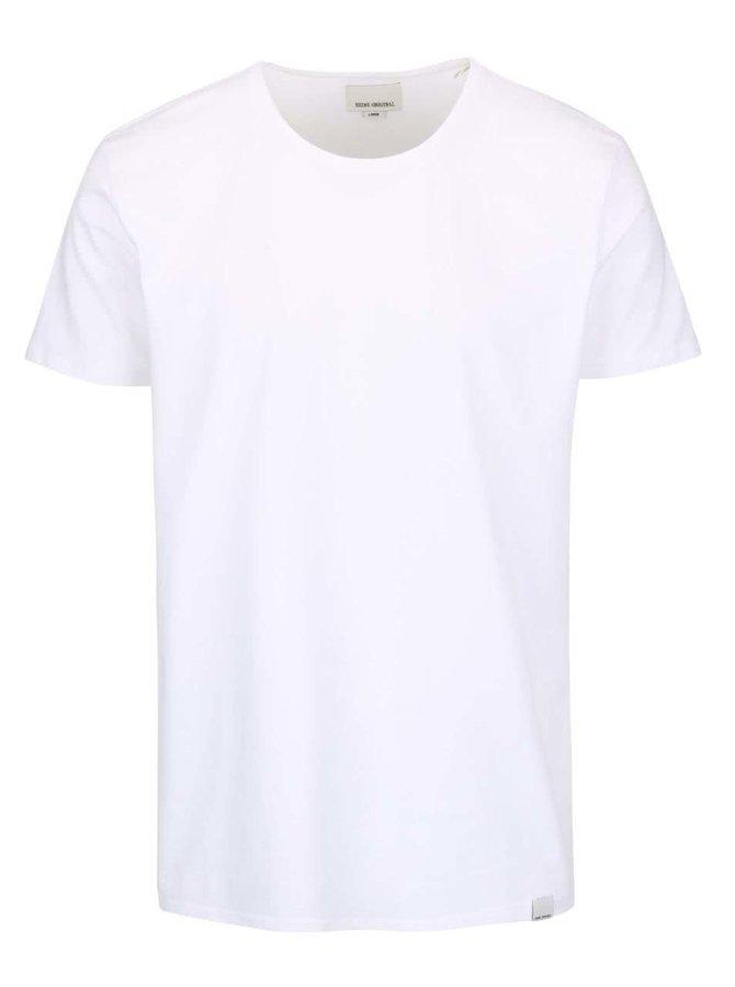 Biele tričko s okrúhlym výstrihom Shine Original