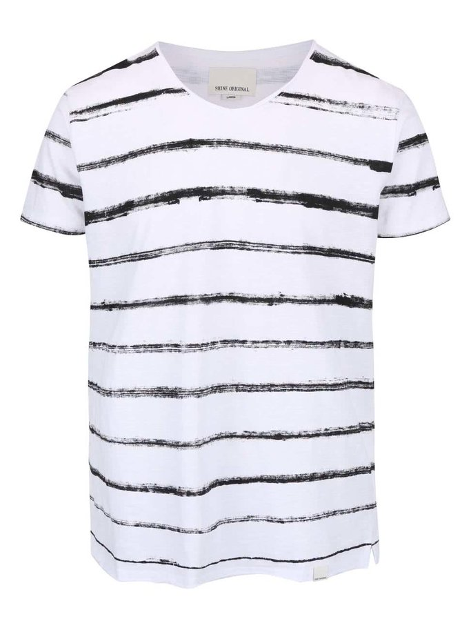 Biele tričko s pruhmi Shine Original