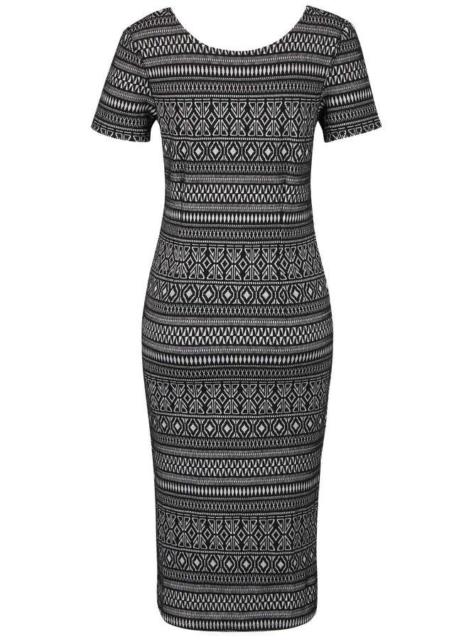 Černé dlouhé šaty se vzorem ONLY Charlene