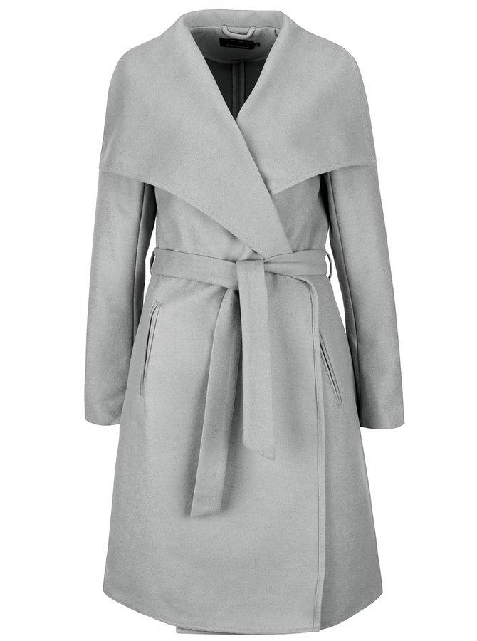 Světle šedý kabát ONLY New Phoebe