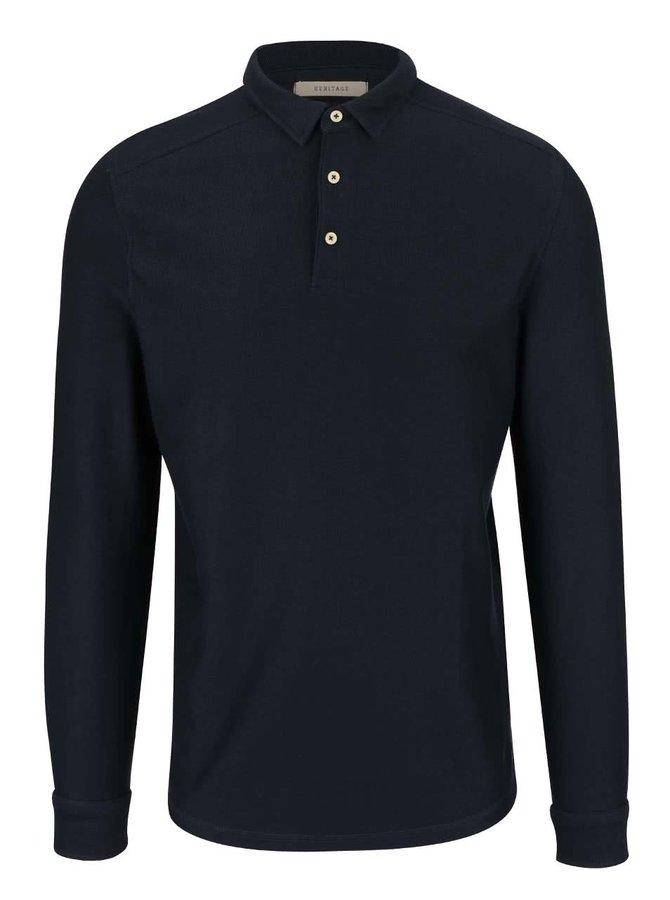 Bluză polo bleumarin Selected Homme Ralf din bumbac