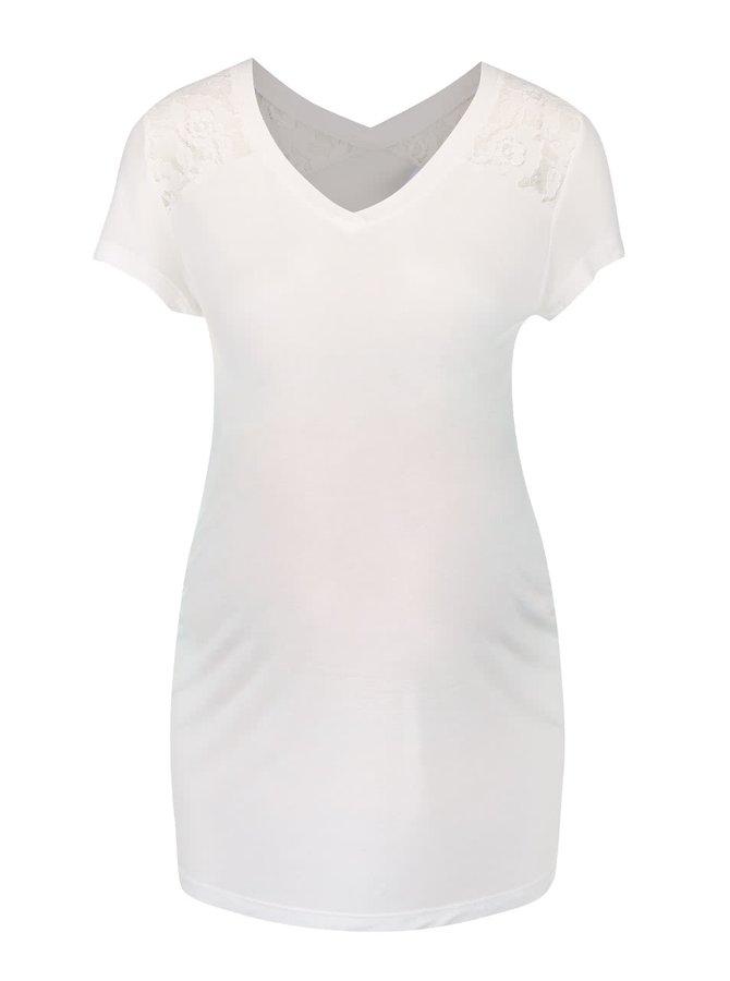 Krémové tehotenské tričko Mama.licious Quick