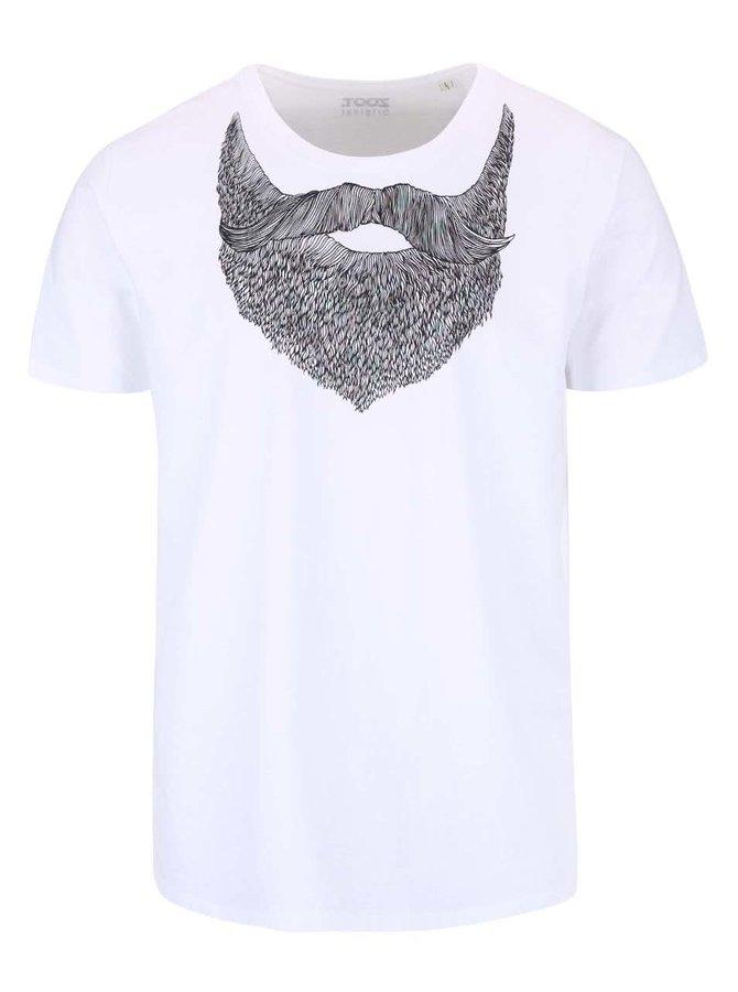 Tricou alb ZOOT Original Beard de bărbați