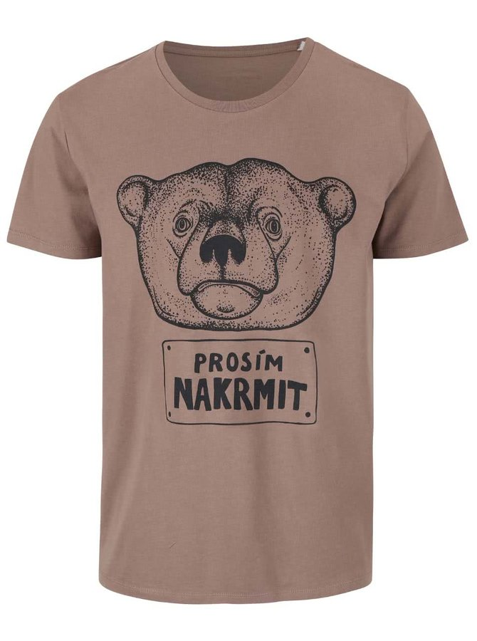 Hnědé pánské triko ZOOT Originál Nakrmit