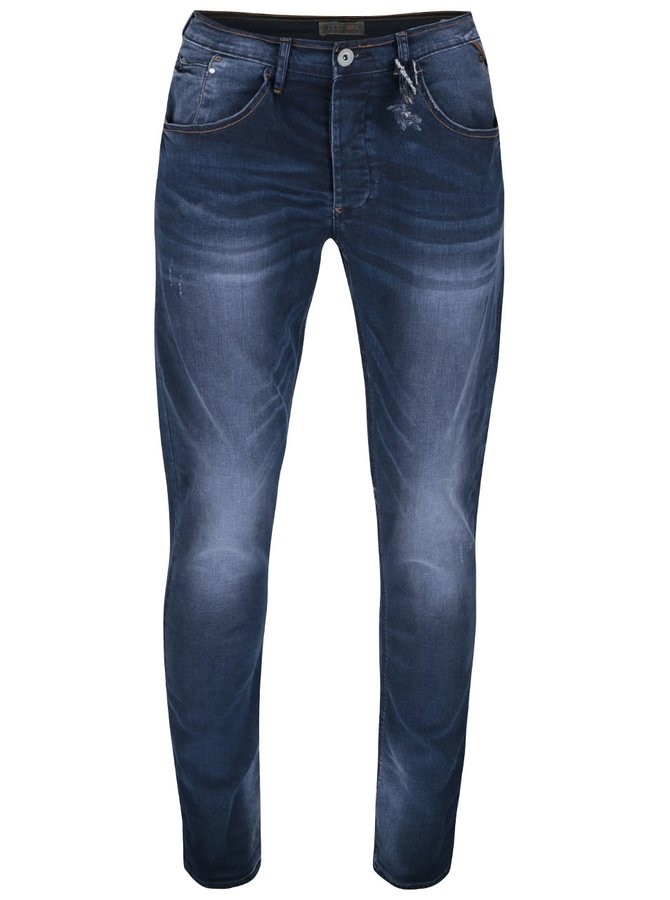 Modré džíny s vyšisovaným efektem Blend