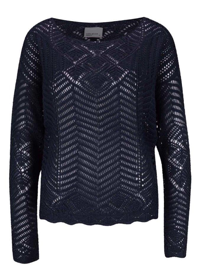 Tmavě modrý svetr Vero Moda Penelope