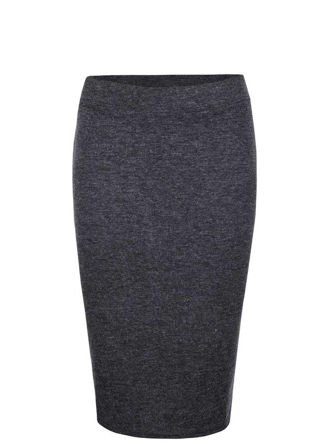 Tmavosivá melírovaná sukňa Vero Moda Nora