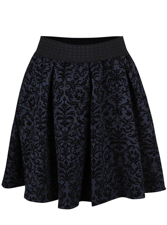Tmavě modrá vzorovaná sukně VERO MODA Cary