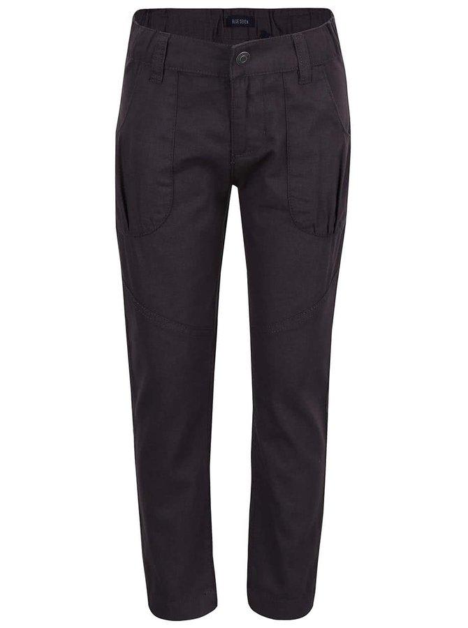 Tmavě šedé holčičí kalhoty s kapsami Blue Seven
