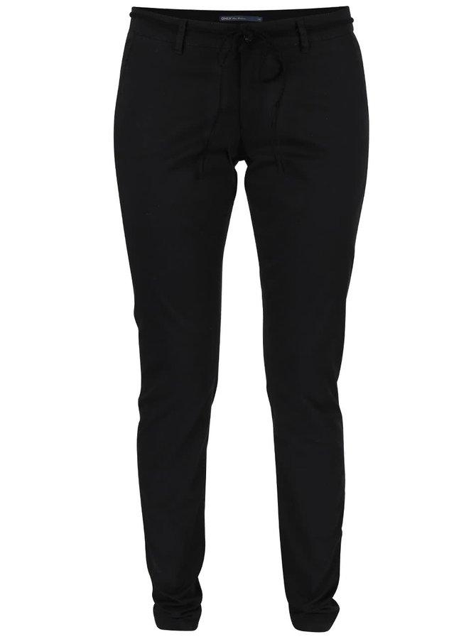 Černé chino kalhoty s páskem ONLY Garland