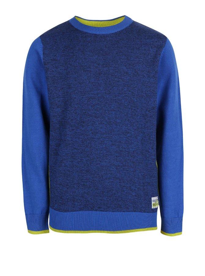 Modrý klučičí žíhaný svetr Blue Seven