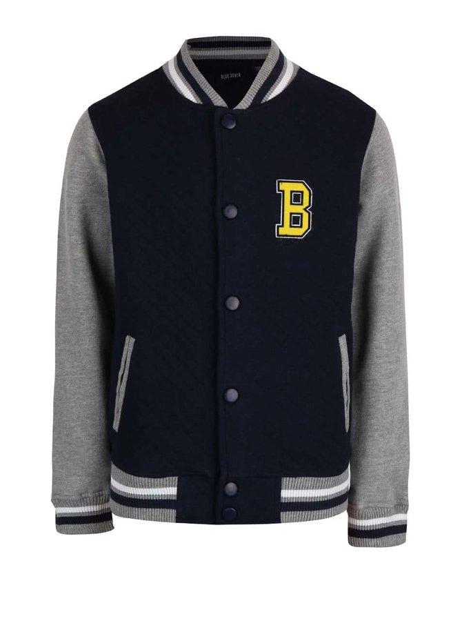 Tmavomodrá chlapčenská baseballová bunda Blue Seven