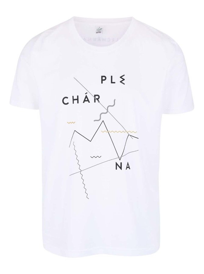 """""""Dobré"""" biele pánske tričko pre Plechárnu"""