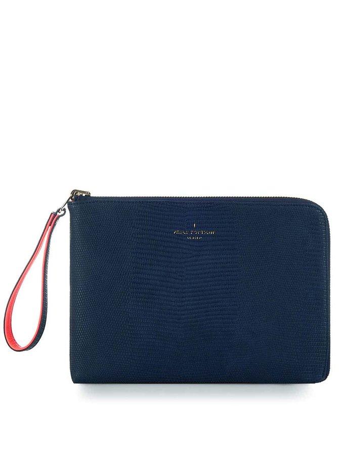 Modro-ružová obojstranná listová kabelka s hadím vzorom Paul's Boutique Mini Fleur
