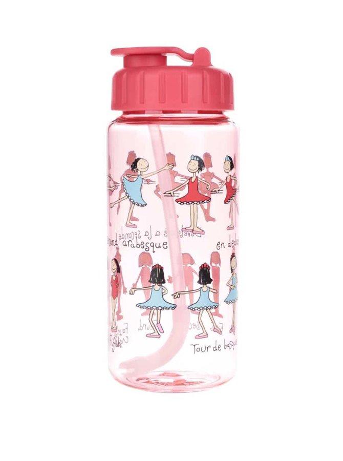 Červená dievčenská fľaša na pitie Tyrrell Katz Ballet