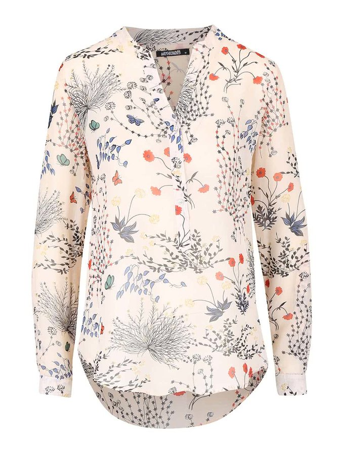 Bluză cu imprimeu floral Haily´s Venus crem
