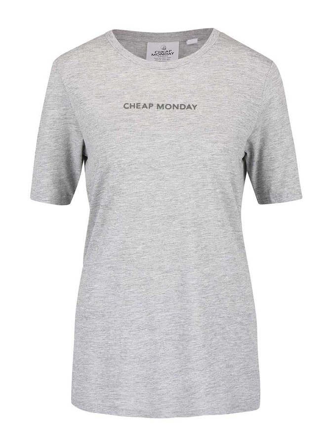 Tricou gri Cheap Monday Break cu text