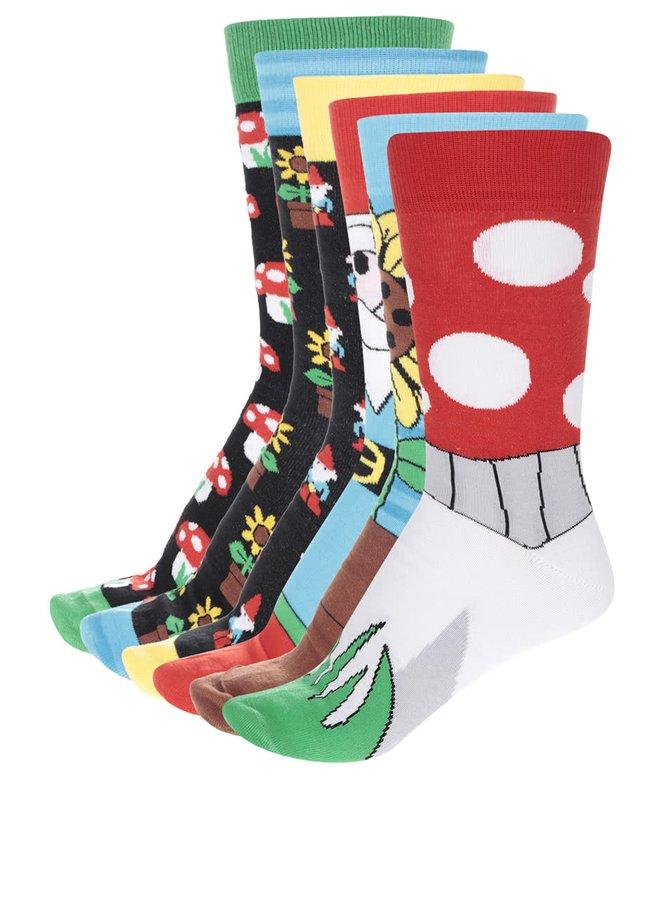 Sada šesti pánských barevných ponožek Oddsocks Fork
