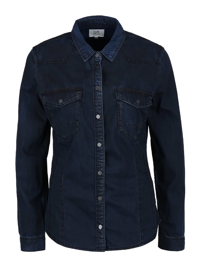 Jachetă bleumarin QS by s.Oliver din denim pentru femei