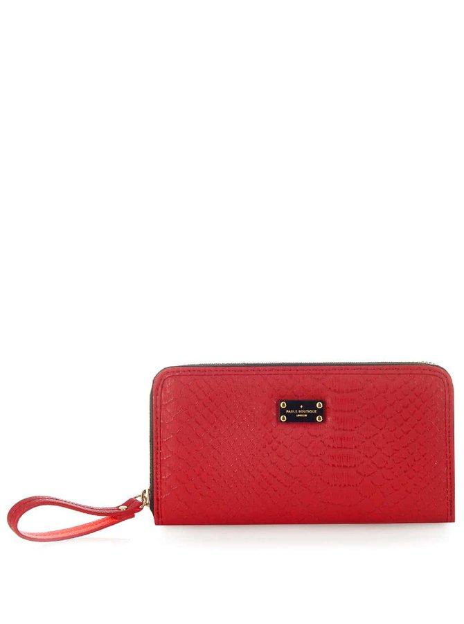 Červená peněženka s hadím vzorem Paul's Boutique Lizzie