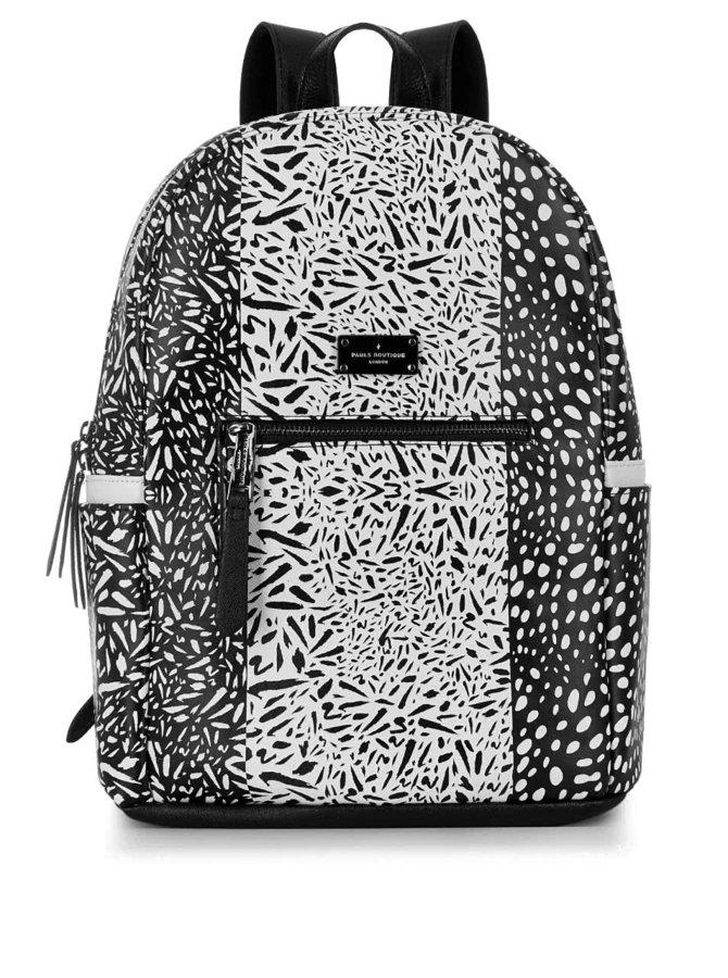 Čierno-biely vzorovaný batoh Paul's Boutique Rosa
