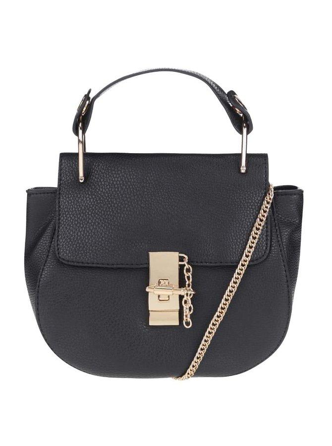 Čierna menšia kabelka s detailmi v zlatej farbe Haily´s Clara