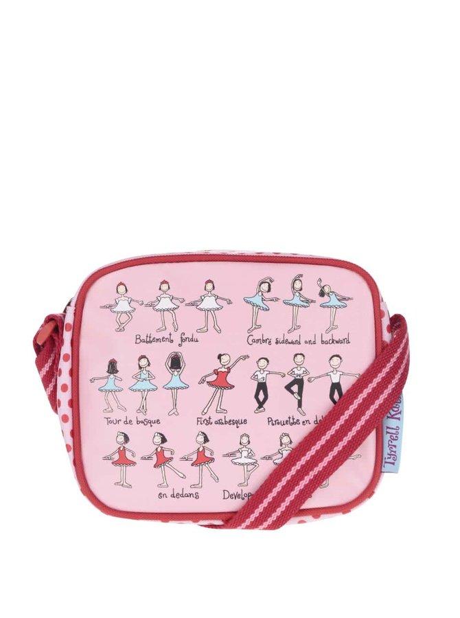 Geantă roșu-roz Tyrrell Katz Ballet crossbody pentru fete