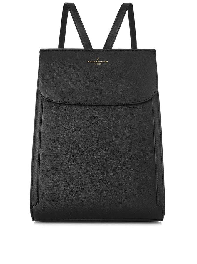 Čierny batoh s detailmi v zlatej farbe Paul's Boutique Saffia
