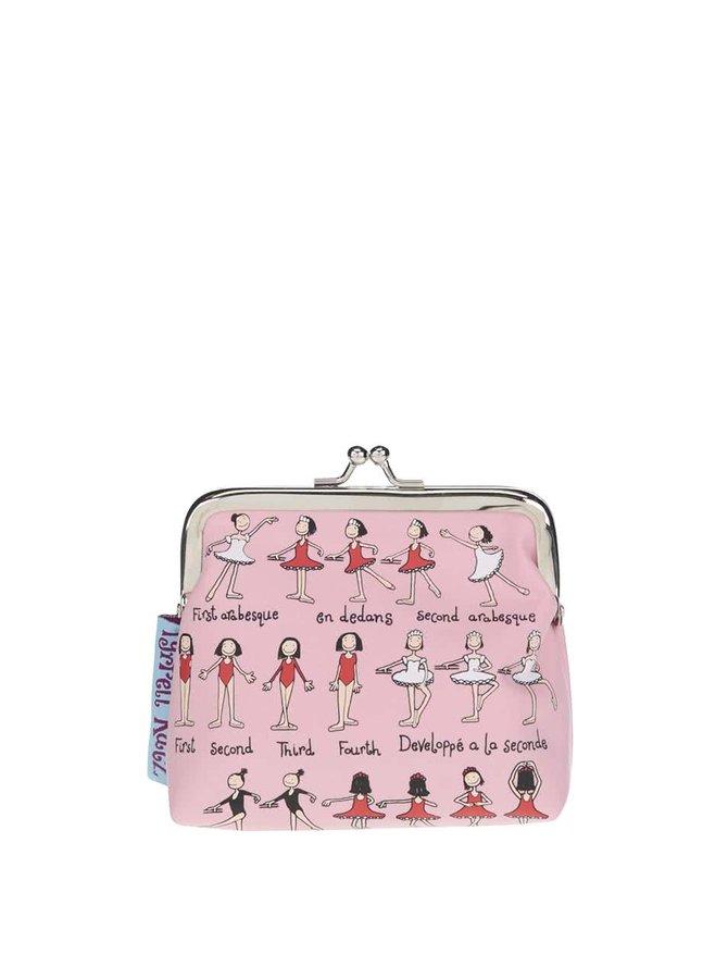 Světle růžová holčičí peněženka s potiskem Tyrrell Katz Ballet