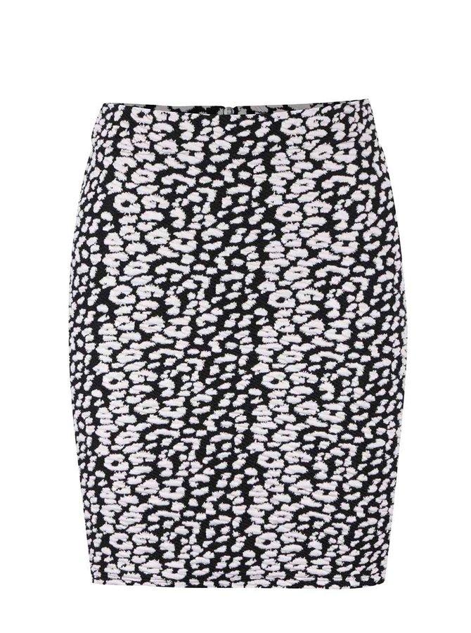 Čierno-biela vzorovaná sukňa s plastickým vzorom Miss Selfridge