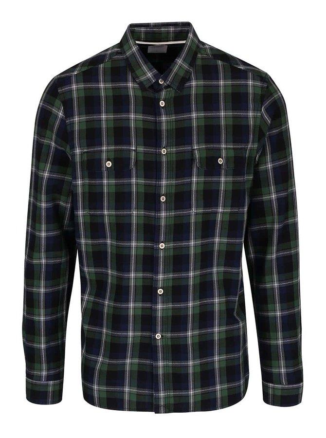 Modro-zelená kostkovaná košile Burton Menswear London