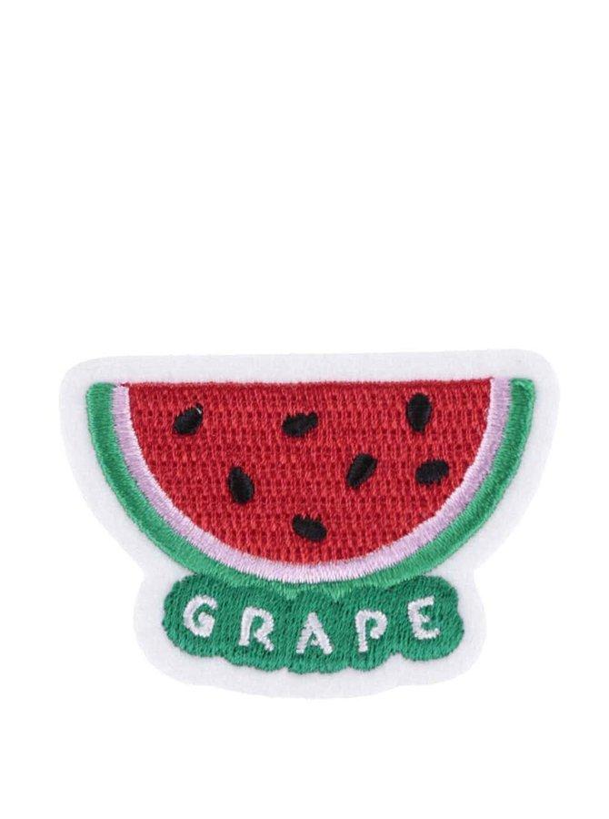 Nažehľovacia výšivka v tvare melóna Grape