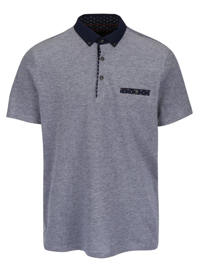 Tricou polo gri Burton Menswear London