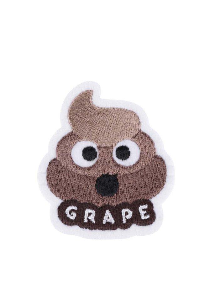 Nažehľovacia výšivka v tvare hovienka Grape
