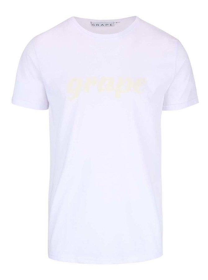 Biele pánske tričko Grape