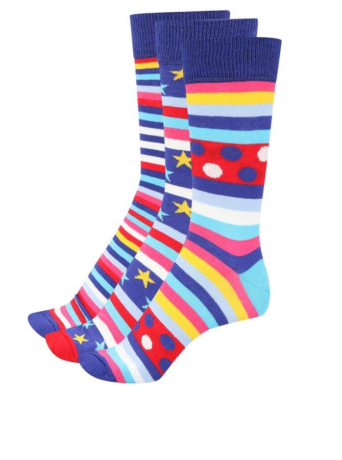 Set tří pánských ponožek laděný do modra Oddsocks George