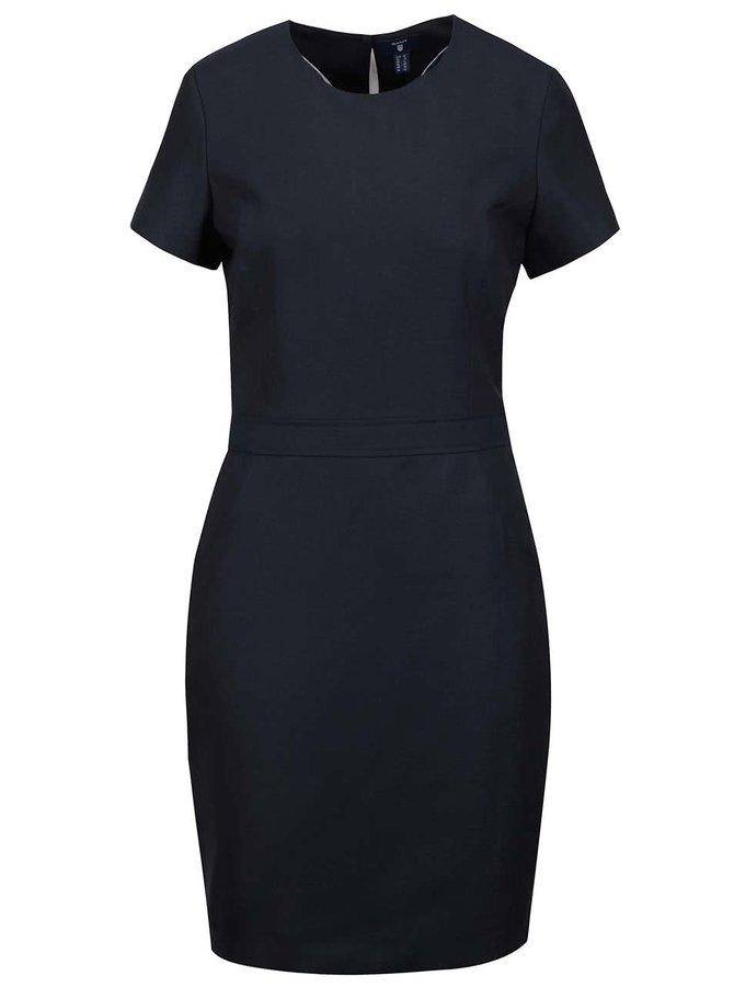 Tmavomodré šaty s krátkymi rukávmi GANT